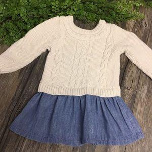 Baby Gap Sweater denim dress size 2 years 2T